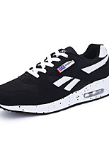 Men's Sneakers Summer Flats Tulle / Fabric Braided Strap Black / Blue Running