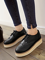 Women's Spring / Summer / Fall Comfort / Round Toe / Creepers PU Office & Career / Dress / Casual Platform Lace-up / Split JointBlack /