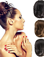 Wedding Bridal Updo Chignon Bun Clips Braids Synthetic Straight Hair Extensions Multi Colors