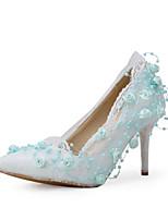 Wedding Shoes-Saltos-Saltos / Bico Fino-Branco-Feminino-Casamento / Social / Festas & Noite