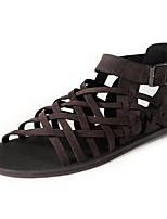 Zapatos de Hombre-Sandalias-Exterior / Deporte-Semicuero-Negro / Marrón