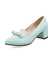 Women's Shoes Chunky Heel Comfort / Pointed Toe Heels Wedding / Office & Career / Dress / Casual Black / Blue / Pink