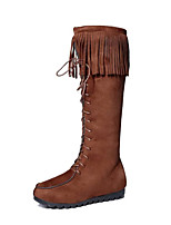 Women's Shoes Leather Spring / Fall / WinterCowboy / Western Boots / Roller Skate Shoes / Riding Boots / Gladiator /