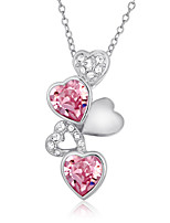 Necklace Pendant Necklaces Jewelry Platinum Plated Wedding / Party / Daily / Casual Silver Heart 1pc Gift
