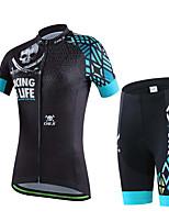 Deportes Bicicleta/Ciclismo Tops / Prendas de abajo Mujer Mangas cortas Transpirable / Reductor del Sudor Elastán DeporteS / M / L / XL /