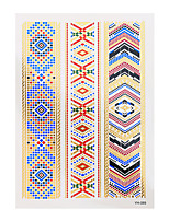 1pc Flash Metallic Tattoo Gold Waterproof Fashion Flower Ethnic Religious Temporary Tattoo Sticker YH-089