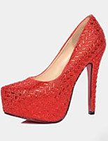 Women's Shoes PU Summer Heels Heels Casual Stiletto Heel Others Red / Silver