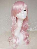 cosplay perruque couleur rose diffuse perruque de caractère 26 pouces de long