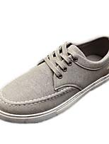 Men's Spring / Summer / Fall Comfort Canvas Casual Flat Heel Blue / Gray / Beige Sneaker