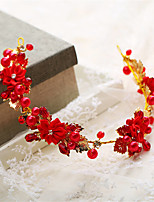 Dame / Blomsterpige Perle / Rhinestone / Legering Headpiece-Bryllup / Spesiell Leilighet Diademer 1 Deler Rød Annerledes 34