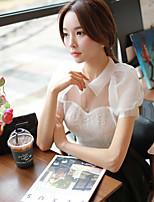 DABUWAWA® Women's Shirt Collar Short Sleeve Shirt & Blouse