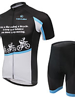 KEIYUEM Bike/Cycling Jersey + Shorts / Clothing Sets/Suits Unisex Short SleeveWaterproof / Breathable / Quick Dry / Rain-Proof /