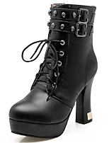 Women's Shoes Spring/Fall/Winter Heels/Platform/Bootie/Round Toe/Boots Party & Evening/Dress Chunky Heel