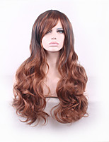 Curly Ombre Harajuku Wig Pelucas Pelo Natural Synthetic Wigs Women Heat Resistant Perruque Wigs pelucas sinteticas