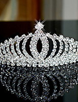 Dam Strass / Legering Headpiece-Bröllop / Speciellt Tillfälle Tiaror / Hårband 1 st. Silver Rund 13