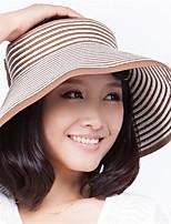 Beach Visor Stripe Empty Top Hat Portable Folding Bow Hat