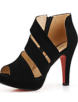 Women's Shoes Fleece Summer Heels Heels Casual Stiletto Heel Others Black