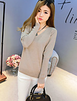 Women's Solid Pink / White / Black / Gray Cardigan,Cute / Street chic Long Sleeve