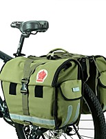 ROSWHEEL Retro Canvas Bicycle Carrier Bag 50L Rear Rack Trunk Bike Luggage Back Seat Pannier Cycling Storage Two Bags