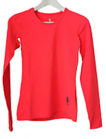 Women's Running T-shirt Running Compression / Comfortable / Thermal / Warm Yellow / Red / Black