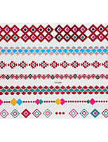 1pc Flash Metallic Waterproof Tattoo Red Gold Silver Fish Diamond Bracelet Temporary Tattoo RYH-009