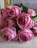 1Pc Beautiful Bouquet Palace Emperor Rose Silk Flower Peony Bouquet Wedding Decoration Artificial Flower