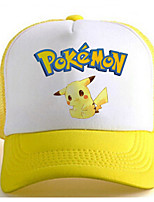 Pocket Little Monster Cute Pika Pika Yellow-White Adjustable Tennis Cap