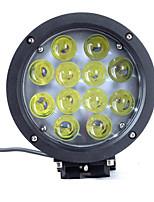 60w luz de la lámpara de vehículos todo terreno redondas de luz LED luces del coche del vehículo todo terreno