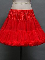 Slips(Tülle / Acryl,Weiß / Schwarz / Rot) -40cm-2-Abendkleid