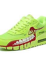 scarpe da uomo all'aperto / casuale pu / scarpe da ginnastica di moda in tessuto verde chiaro / nero e oro / nero e rosso