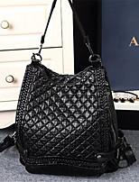 Women-Formal-PU-Shoulder Bag-Black