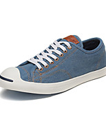 Converse Jack Purcell LP L/S Men's Shoes Denim Canvas Outdoor / Athletic / Casual Sneaker Flat Heel Black / Blue