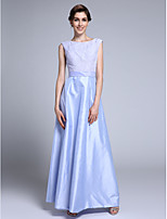 Lanting Bride Sheath / Column Mother of the Bride Dress Ankle-length Sleeveless Lace / Taffeta with Lace