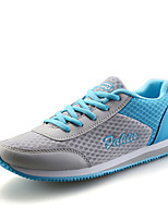 Women's Shoes PU / Tulle Flat Heel Comfort / Round Toe Fashion Sneakers Athletic / Casual Blue / Pink / Fuchsia