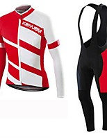 KEIYUEM Bike/Cycling Jersey + Pants/Jersey+Tights / Clothing Sets/Suits Unisex Long SleeveBreathable / Quick Dry / Dust Proof / Wearable