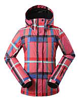 Gsou snow fashion popular red grid pattem ski jackets /waterproof jackets thermal wearable female ski-wear