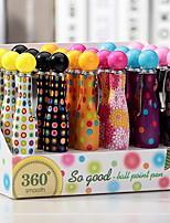 creativo y colorido que gira el bolígrafo