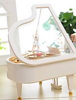 White Piano Music Box Shape
