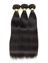 3 Peças Retas Tramas de cabelo humano Cabelo Peruviano Tramas de cabelo humano Retas