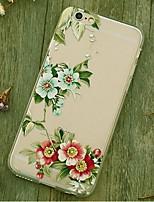 indietro Resistente agli urti Fiore decorativo TPU Morbido Shockproof Copertura di caso per Apple iPhone 6s Plus/6 Plus / iPhone 6s/6
