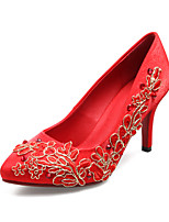 Women's Shoes PU / Leatherette Stiletto Heel Heels / Peep Toe Sandals / Heels Wedding / Party & Evening Red