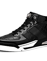 Men's Shoes Patent Leather Athletic / Casual Sneakers Athletic / Casual Sneaker Flat Heel Plaid Black / Blue