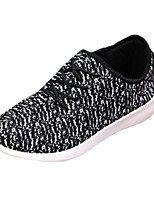 Women's Shoes Tulle Spring / Fall Comfort Fashion Sneakers Outdoor / Casual Flat Heel Others Black / White
