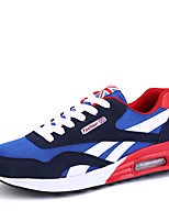 Men's Spring / Fall PU Casual Flat Heel Others Black / Blue / Red Sneaker