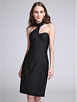 Lanting Bride Knee-length Jersey Bridesmaid Dress Sheath / Column Halter with