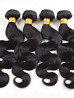 10A grade Cheap Brazilian virgin hair body wave Human hair extensions 4pcs/lot bundles natural black hair weaves