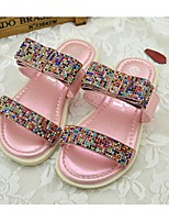 Girls' Shoes Casual PU Summer Comfort / Sandals Pink / Silver / Gold