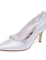 Women's Spring / Summer / Fall / Winter Heels Silk Wedding / Dress / Party & Evening Stiletto Heel Chain White