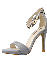 Women's Sandals Summer Sandals PU Casual Stiletto Heel Others Black / Pink / Red / Silver / Gray / Gold Others