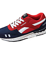 Men's Shoes PU Outdoor / Casual Flats Outdoor / Casual Walking Flat Heel Others / Lace-up Black / Blue / Red